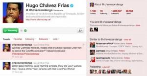 Chavez Rules Homeland via Twitter